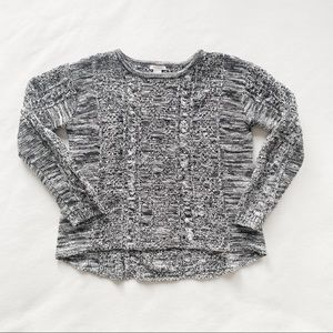 Forever 21 Grey & Black Chunky Knit Sweater